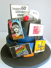 broadway birthday (Wicked LIttle Cake Company) Tags: cake joseph broadway phantomoftheopera westsidestory fiddlerontheroof lesmiserables