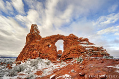 Morning Delight (James Neeley) Tags: landscape arches archesnationalpark hdr f12 turretarch 5xp jamesneeley flickr24