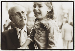 Girl and grandfather - Edward Olive wedding photos