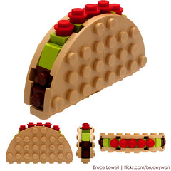 LEGO Taco (bruceywan) Tags: sculpture food tomato yum lego meat mexican lettuce taco tortilla photostream moc brucelowellcom
