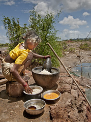 At the Salt Pans - Getting Food Ready ! (Anoop Negi) Tags: sea portrait food sun india holiday industry beach cooking water photography for photo sand media mine image photos coconut delhi indian bangalore goa salt creative images best resort sound mines po destination pan meditation gokarna spirituality om mumbai karnataka saline making anoop panjim pans negi panaji transcendental primordial utterance  ndia photosof ezee123 imagesof jjournalism