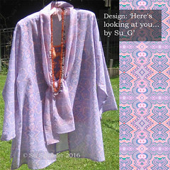 Summer jacket in 'Here's looking at you' fabric' (Su_G) Tags: pink orange abstract adri gray fabric jacket handpainted multicolored product feltpen coordinates variation bats hereslookingatyou sug 2011 multidirectional warmgray spoonflower cottonvoile v2910 orangegraygradient