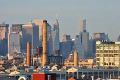 city (greenelent) Tags: city nyc sunset newyork skyline nikon cityscape photoaday 365