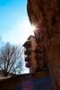Casa colgada (70º y 71º EXPLORE - 30 y 31-01-2012) (Jose Casielles) Tags: color luz contraluz arbol casa calle roca cuenca yecla casascolgantes casacolgada fotografíasjcasielles