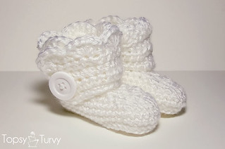 Crochet Wrap Around Button Baby Boots Pattern : Ravelry: Crochet wrap around button infant boots- girls ...