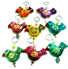 Key chain birds (**mira pinki krispil-colors of life ***) Tags: sculpture art birds animal keychain key handmade fimo clay pinki polymer cahin         mirakris