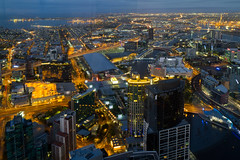 Dawn in Melbourne, 88 floors up (tim.mcrae) Tags: tower floors port sunrise river dawn bay towers australia melbourne victoria yarra crown cbd phillip 88 eureka skydeck