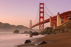 Evening Light on the Golden Gate, Marshall Beach (Della Huff Photography) Tags: sanfrancisco sunset twilight waves pacific goldengatebridge goldengate ggnra goldengatenationalparks ggb marshallbeach ggnpc