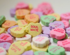 ~Soulmate~ (nushuz) Tags: 3 hearts sweet bokeh romance candyhearts pastels valentinesday soulmate kraig conversationhearts everyonehasone supershot missingmysoulmatethisvalentinesday stacksofhearts