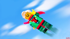 Turbo man! (chrisofpie) Tags: chris red sky man nature project pie t toy toys star flying lego super story turbo legos hero superhero brave heroes minifigure minifigures turboman stunningphotography legohero stunningphotogpin chrisofpie