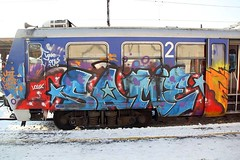 Zagreb Croatia 2012 (STEAM156 PHOTO KING !) Tags: graffiti europe croatia trains zagreb same steam156 wwwaerosolplanetcom