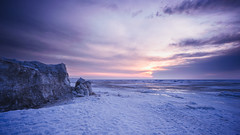 Cold Sunrise (Andrei SE) Tags: winter lake cold ice sunrise landscape frozen nikon freezing erie ais 18mm f35 crystalbeach d700