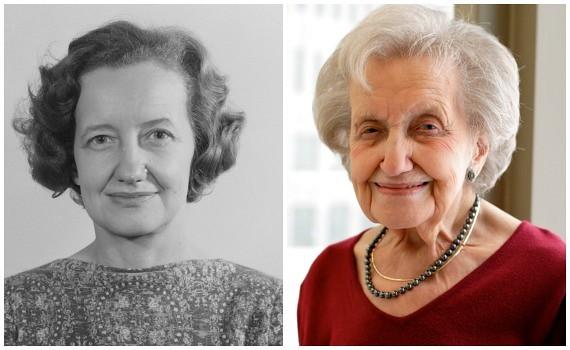 1965年(左)的布伦达·米尔纳与如今(右)的米尔纳(感谢布伦达·米尔纳和米拉·帕勒贾提供的照片)