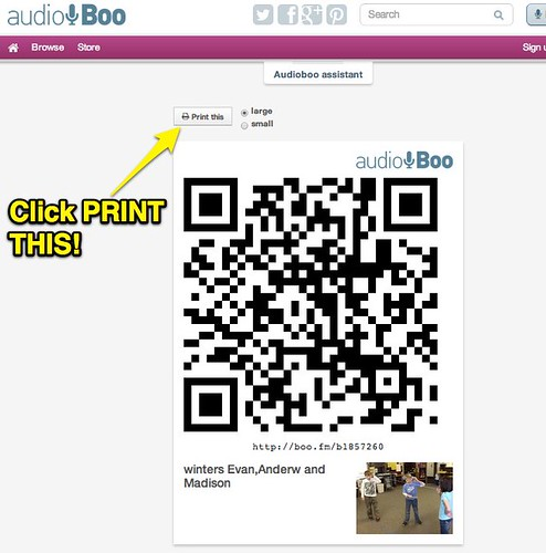 Audioboo QR Code: Step 3 by Wesley Fryer, on Flickr