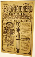 "Mexico City - El Cancionero Popular / The Popular Singer - ""The Pulque Drinker"" by Posada (ramalama_22) Tags: poverty city art museum print mexico skeleton book arte folk jose centro diego center historic cover singer isabel agave museo madero guadalupe popular catolica posada orozco rivera ciudaddemexico pulque portada fermented calavera religeous drinker broadside pobresa sensationalist historico satirical muralist cancionero juiice pulquero estanquilo"
