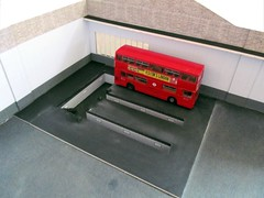 Brixton bus garage model diorama (kingsway john) Tags: kingsway models model bus garage 176 scale london transport diorama londontransportmodel oo gauge miniature