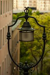 Sentinel (gabi_halla) Tags: city tree green lamp up lights dof outdoor curves budapest curvy among through sentinel