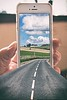Road thru phone (Glesgaloon) Tags: silly photoshop manipulated landscape crazy artistic magic creative surreal manipulation frame daft trickphotography dontbelievewhatyousee