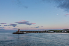 Dusk at the East Pier. (EireanClaire) Tags: ireland moon lighthouse seascape pier wicklow landsape wicklowtown