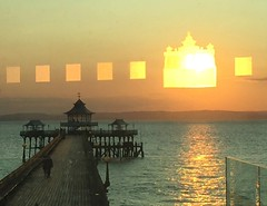 Sunset through the Funnel Glass - Clevedon Pier (Clevedon Pier) Tags: sunset clevedon clevedonpier