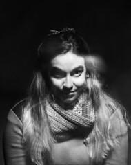 Perverlor (intivisible) Tags: portrait blackandwhite bw woman byn 120 blancoynegro film girl smile analog movement analgica mujer chica retrato ghost movimiento bn perverse sonrisa fantasma perversa analogic moo