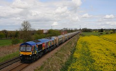 66-718-6V09-Allscott-3-5-2016 (D1021) Tags: stone telford pole d300 walcot class66 sugarbeetfactory gbrf 66718 oilrapeseed nikond300 poleshot allscott 6v09 allscottsignalbox allscottsugarbeetfactory