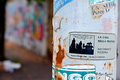 "Roma. Ex-Fiera di Roma. Graffiti for '9 years of Graff Dream'. Sticker art. ""La casa nella prateria"" (R come Rit@) Tags: urban italy streetart rome roma muro art wall photography graffiti sticker stickerart montana italia arte maya puppet label streetphotography wallart spray urbanart labels theme roadsign walls graff aerosol aerosolart topic colombo segnalistradali graffitiart muri trafficsignals sprayart signposts arteurbana 9birthday stickerbomb graffitirome italystreetart ardeatino graffdream streetartitaly exfieradiroma romegraffiti graffitiroma slapart streetartrome streetartphotography romastreetart streetartroma romestreetart urbanartroma ritarestifo signscommunication romeurbanart mayatheme 9yearsofgraffdream"