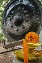 Sounds and Silence (tylerkingphotography) Tags: city travel music orange black thailand temple photography nikon worship southeastasia nipple photographer outdoor prayer kitlens kingdom explore backpacking thai sound chiangmai 1855mm traveling mallet amateur gong resonance d3100