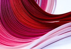 Abstract reds (Pixel_peeper) Tags: abstract curves reds paperstrips macromonday anthinggoes