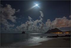 Sweet Tropical Night (Jean-Michel Raggioli) Tags: sky moon seascape beach night stars martinique caribbean lediamant ourplanet
