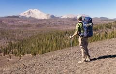 Mt Lassen Backpacker (Hank Christensen) Tags: california usa nature landscape outside nationalpark unitedstates natural outdoor northamerica backcountry hikers wilderness volcanicrock backpackers cascaderange lassennationalpark