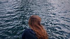 149/366: the sea I (Andrea  Alonso) Tags: ocean sea selfportrait me mar back spain galicia espalda 365 autorretrato vigo oceano 366