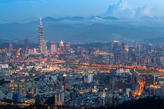 - Taipei City into the night (basaza) Tags: canon 101 taipei101 30d