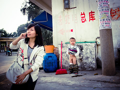 """It smells bad here (imsuri) Tags: china portrait people digital kid iii chinese streetlife chinadigitaltimes gr ricoh nanning guangxi 2011  streetsnap itsmellsbad lostlaowai ricohgrdigital3"
