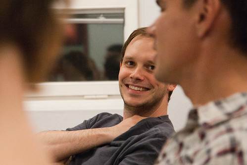 peter - Peter Sunde at a team event