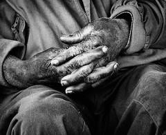 Bo's Hands (nailbender) Tags: bw man black work blackwhite hands labor alabama afroamerican weathered nailbender bighandsbigheart