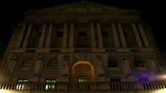 2011-12-02 The Money Shot, Bank of England at Night, London (MedEighty) Tags: uk light england money london architecture night dark december glare bank pillars bankofengland bankstation 2011 medeighty