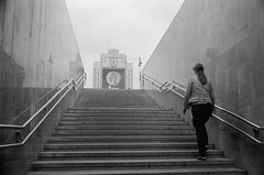 Independence square (varjagg) Tags: leica girl 35mm underpass subway university metro kodak july stairway summicron f2 exit belarus eastman minsk m4 v4 pedagogical doublex 2011 belarussian tmaxdeveloper ei320 5222 preasph