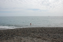 Swimming in the Pacific at Katsura-hama
