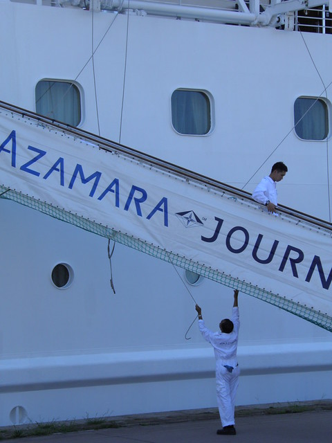 Installation de la passerelle - Azamara Journey  - Bordeaux - P9020166