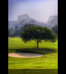 Golconda Fort - Golf Course View (Swasti Verma) Tags: india tree green nikon fort golfcourse photowalk hyderabad hdr golconda hws 2011 golcondafort swasti d7000