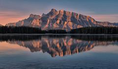 Pink Morning in Banff (Jeff Clow) Tags: bravo albertacanada banffnationalpark twojacklake
