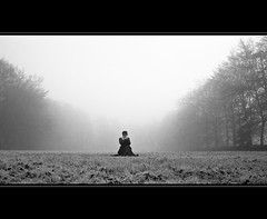 Proclaim your Place in Life (LiesBaas) Tags: trees woman mist girl grass fog mystery bomen dress mask mysterious dame vrouw meisje masker 2011 misterieus grassprietjes liesbaas proclaimyourplaceinlifebyliesbaas
