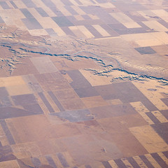 Milk River, Montana (Chicken) Tags: usa abstract texture river square montana pattern dry canyon aerial farmland fractal windowseat rift milkriver