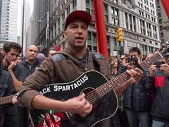 2011 OWS  OLY 10/13 March to City Hall - 007 (joyofresistance) Tags: usa money love freedom justice workers war peace protest police violence conflict nightmare capitalism middleclass peacefulprotest resistance resist classwar nonviolence billionaires soldout americandream clashes riseup powertothepeople ows bailout occupy morallybankrupt corporategreed occupywallstreet wearethe99 youarethe99