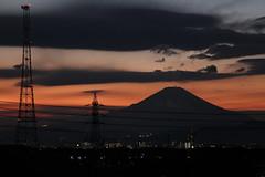 IMG_0004.JPG (h_takamura) Tags: sunset sky orange mountain landscape evening fuji dusk