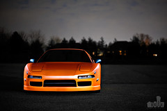 Creamsicle ; nsx (dkfx photography) Tags: sky orange lightpainting canon nightshot awesome 85mm wrapped f18 creamsicle epic acura polished nsx blackrims ccw 85mmf18 tintedwindows acuransx carwrap dkfx 5dmk2