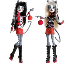 Promo Werecat Twins (Veni Vidi Dolli) Tags: dolls mattel werecat purrsephone monsterhigh meowlody