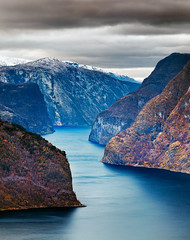 Fjord Passage (Nomadic Vision Photography) Tags: autumn norway dramatic worldheritagesite getty aurland travelphotography norwegianfjord