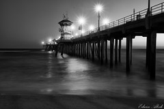 Lost in a Dream (Edwin_Abedi) Tags: california longexposure bw beach pier huntington socal